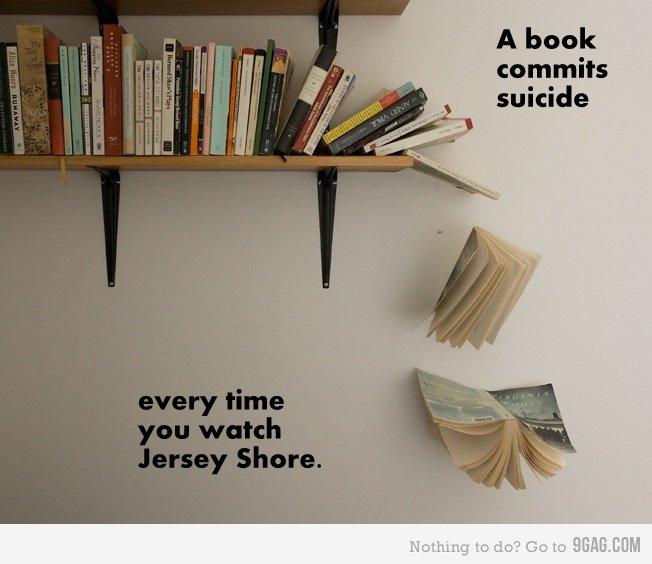A book commits suicide Jersey Shorejpg