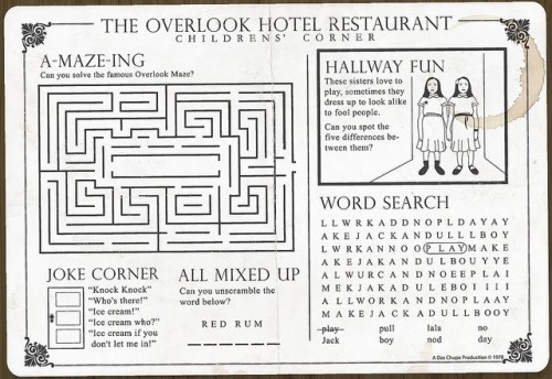Overlook Hotel Restaurant Children's Corner