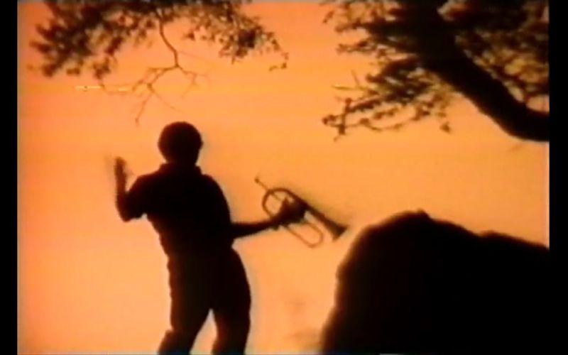 Hugh Masekela screengrab with trumpet