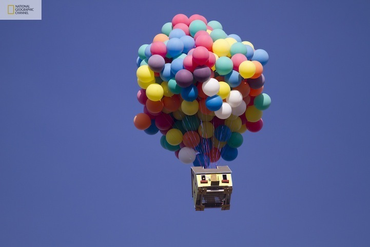 House from Up recreated National Geographic Paste