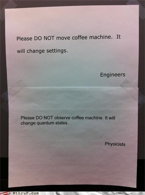 Engineers vs physicists coffee