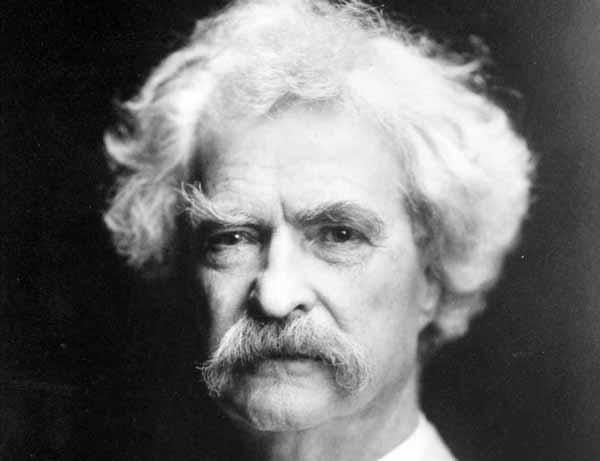Mark Twain head and shoudlers