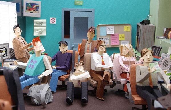 Paper office workers by Alexei Lyapunov and Lena Ehrlich
