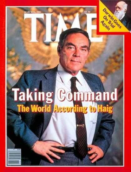 Alexander Haig Time magazine 1981