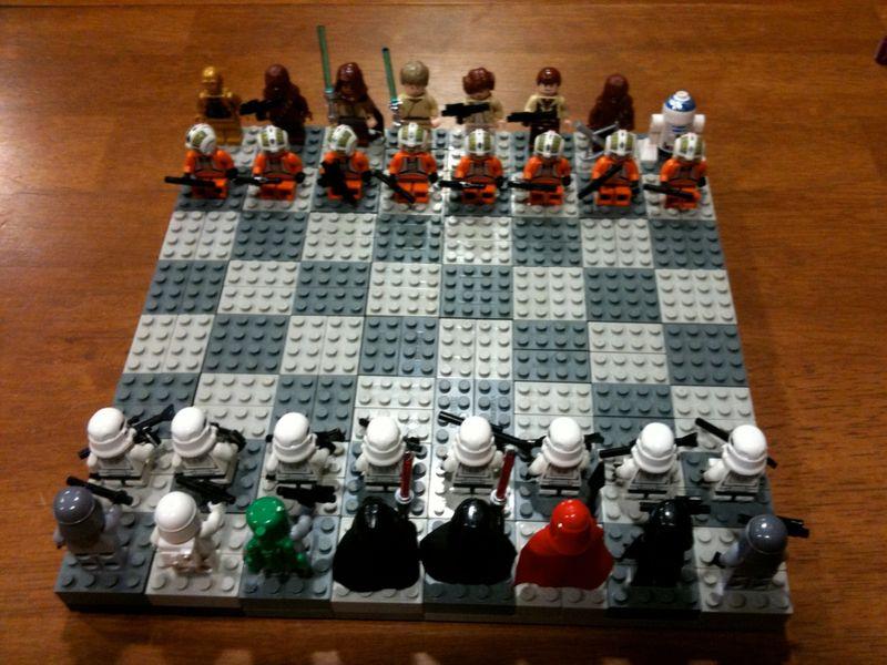 Lego Star Wars chessboard
