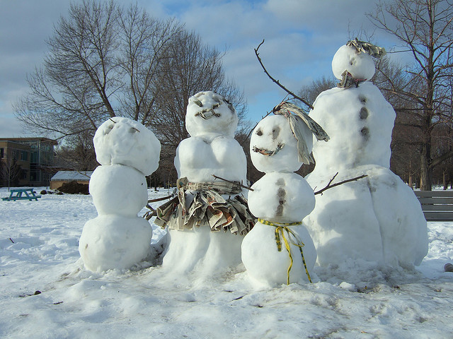 Snow Family seen on City and Baby Photo by Joe Howell Flickr