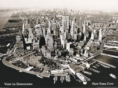 New York aerial view 1950s