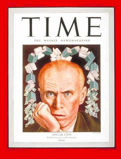Sinclair Lewis Time magazine cover