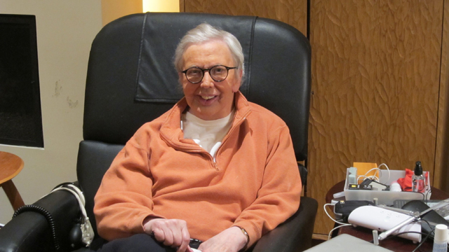 Roger Ebert with prosthetic chin