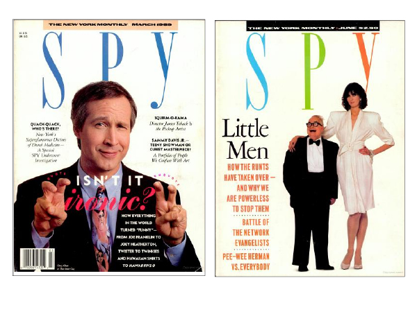 Spy magazine covers Print magazine