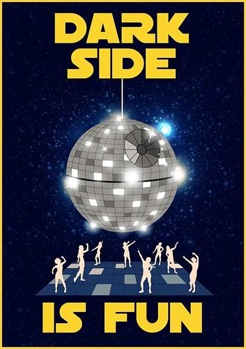 The Dark Side is fun disco ball