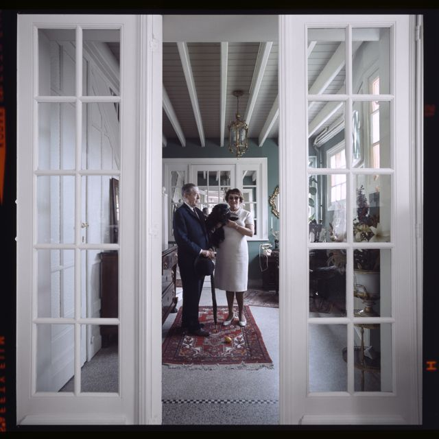 Rene and Georgette Magritte by Lothar Wolleh 1967 Brussels