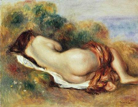 Pierre Auguste Renoir Reclining Nude