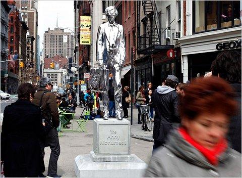 Andy Warhol monument Union Square Manhattan