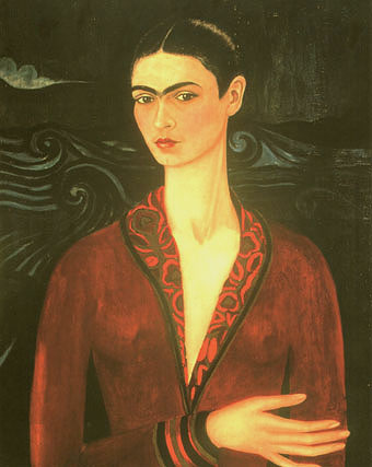 Frida Kahlo Self Portrait in a Velvet Dress