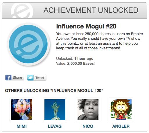 Influence Mogul 20 achievement EA