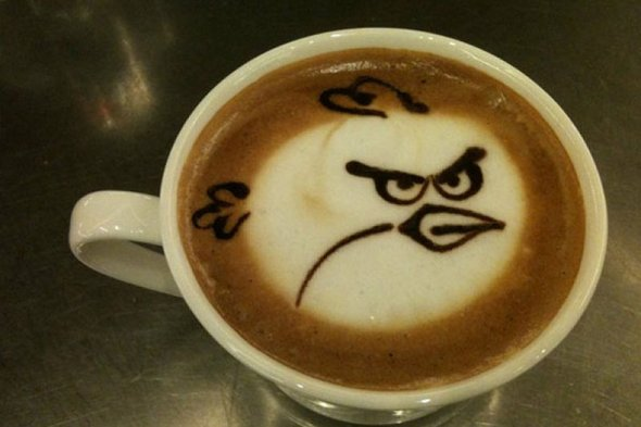 Angry Birds Coffee from Thats Nerdalicious