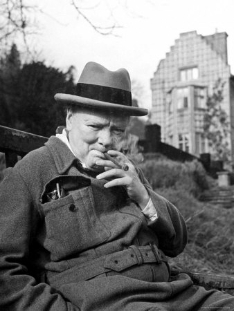Winston Churchill with cigar