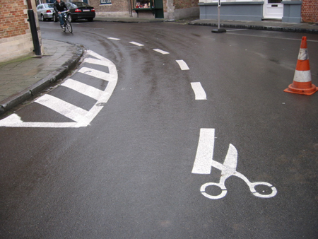 Perforation street art