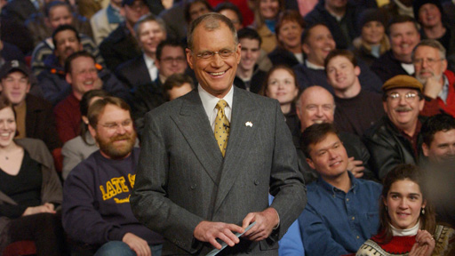 David Letterman with audience