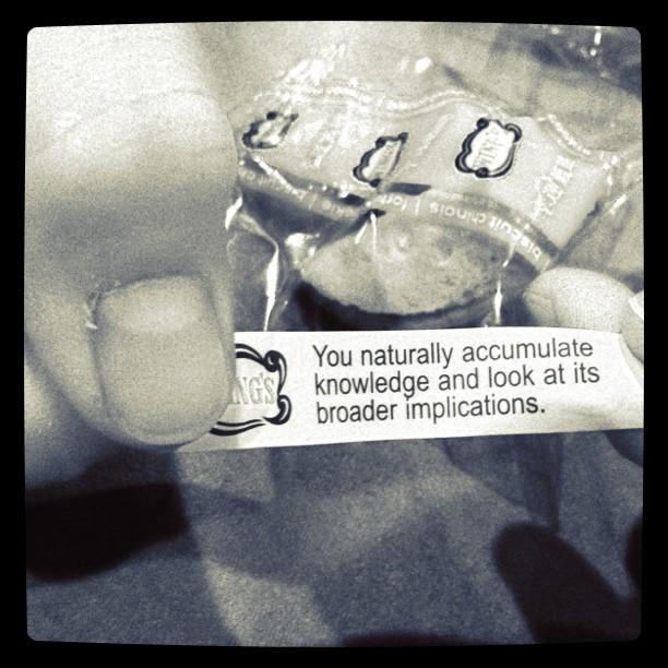 Martha's fortune cookie