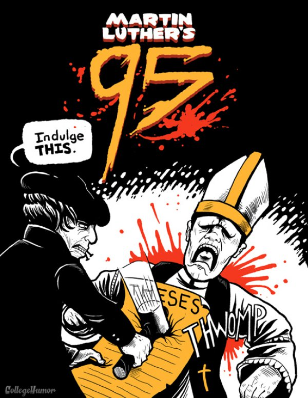 Frank Miller parody Martin Luther 95