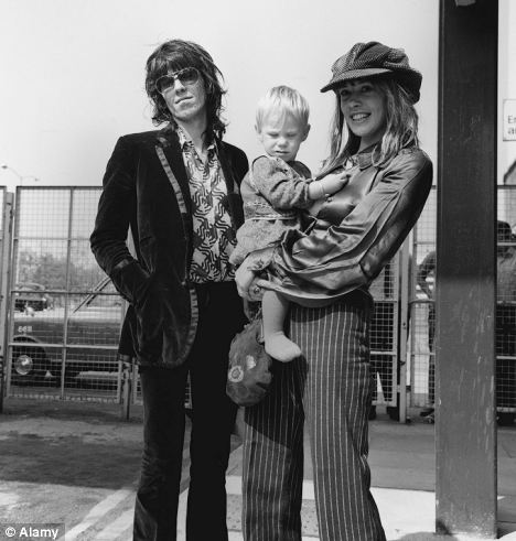 Keith Richards Marlon Richards Anita Pallenberg