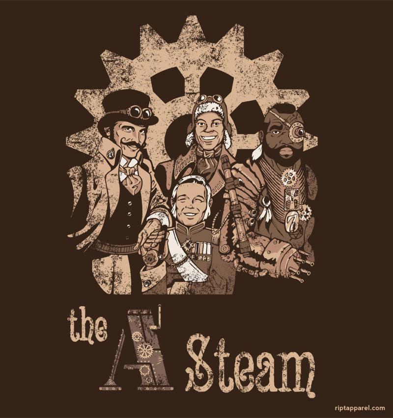 The A Steam Tshirt Riptapparel