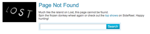 Lost Page not found