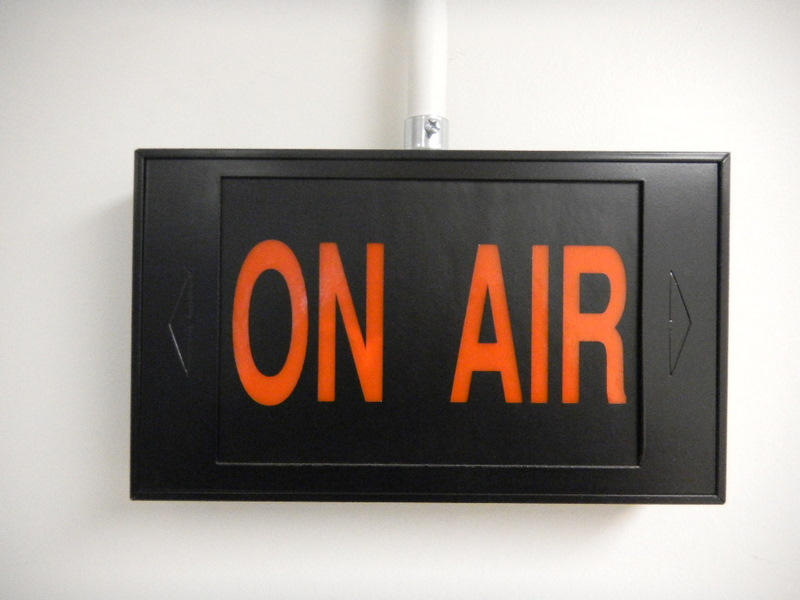 On air sign at CBC May 2011