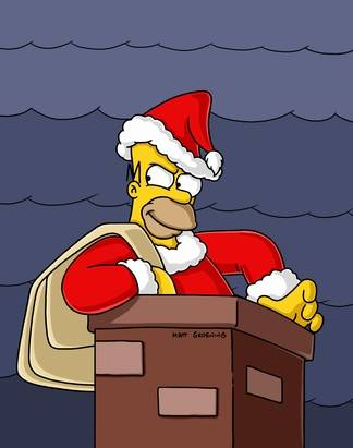 Homer Simpson as Grinch