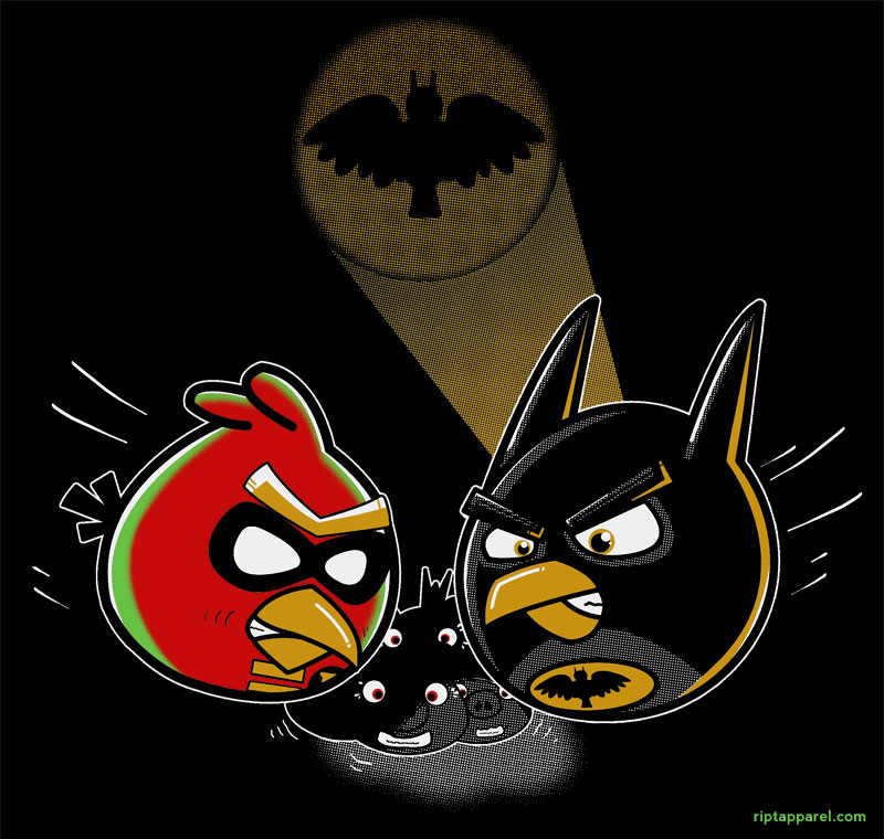 Angry Birds meets Batman and Robin RIFT Apparel