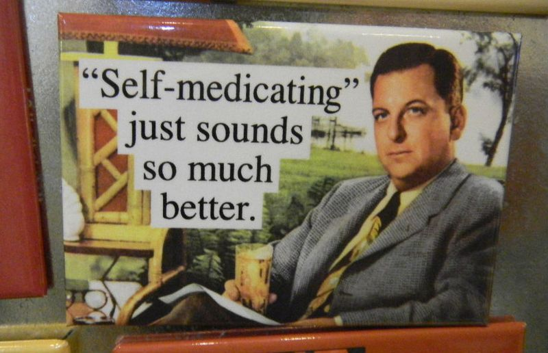 Self-medicating fridge magnet