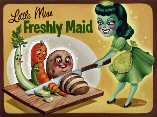 Little Miss Freshly Maid ad from Kitschy Living