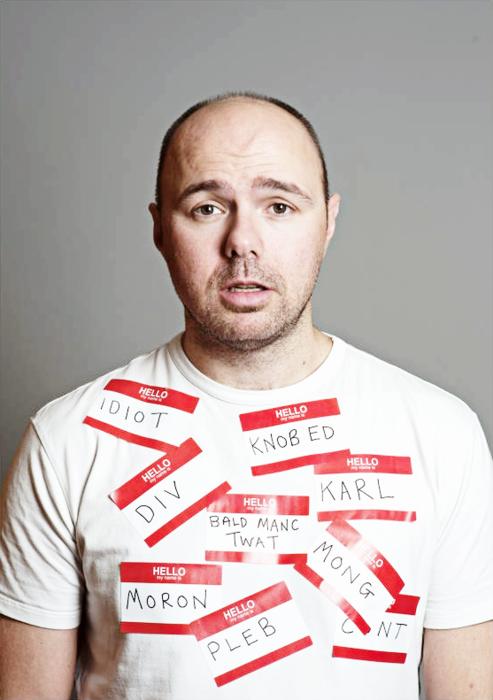 Karl Pilkington labels