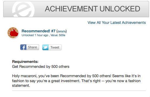 Recommended 7 achievement