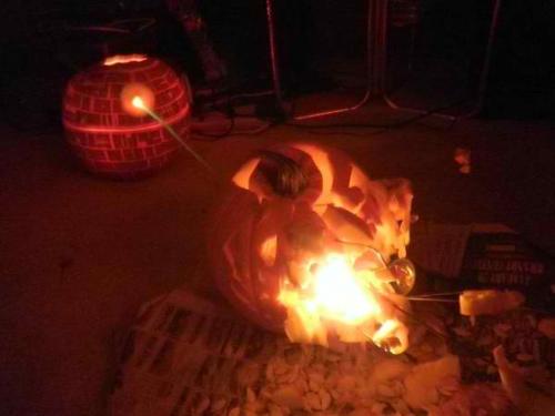 Pumpkin Death Star Pumpkin Alderaan