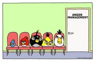 Angry Birds at Anger Management clinic