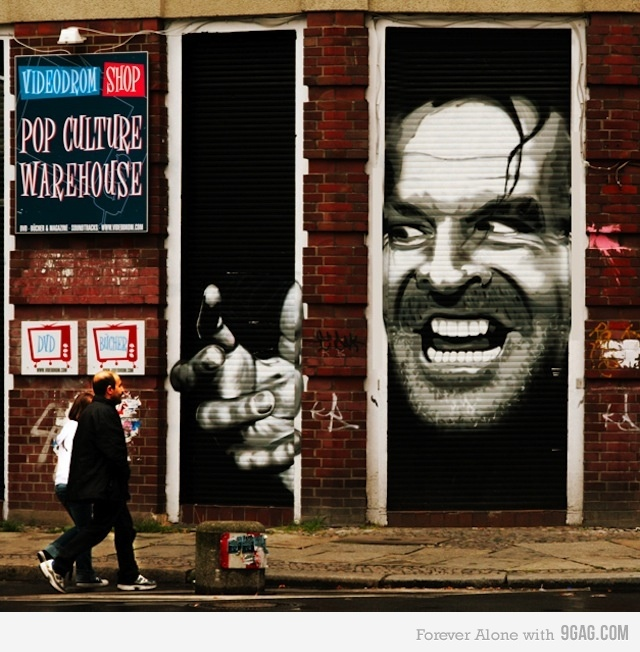 It's Johnny street art the shining