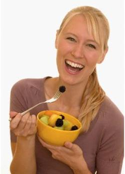 Salad makes women laugh