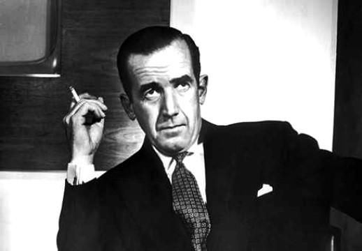 Edward R Murrow smoking jacket tie