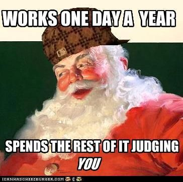 Santa works one day a year