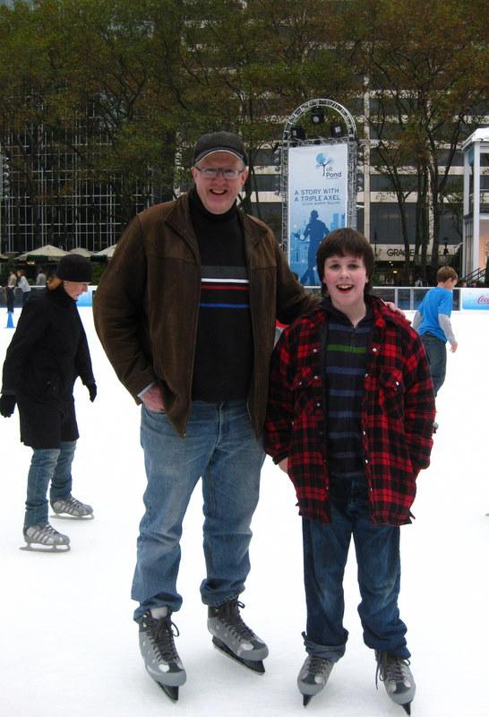 John and Nick Bryant Park skating