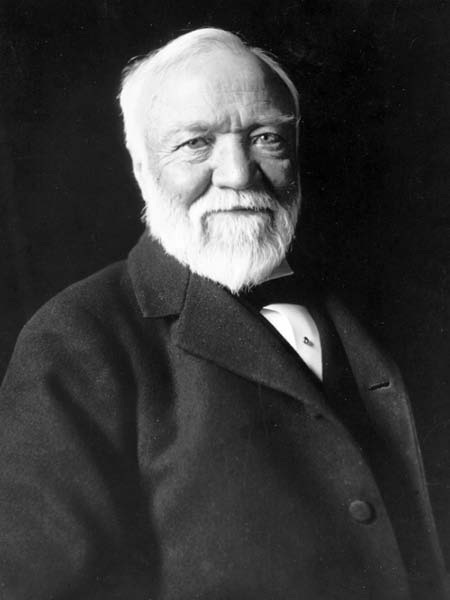 Andrew Carnegie black and white portrait
