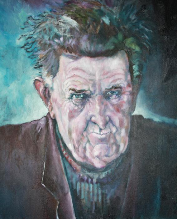 Brendan Behan painting