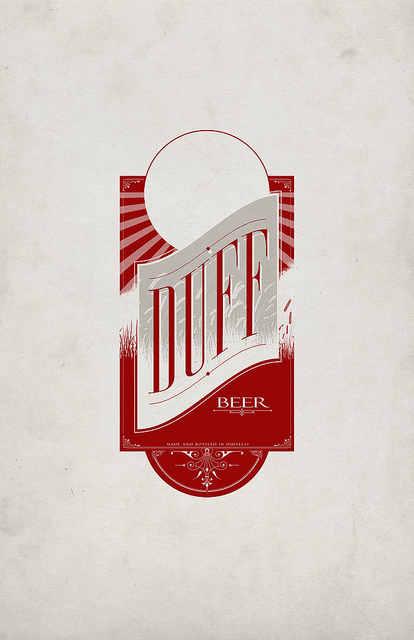 Duff Beer makeover logo