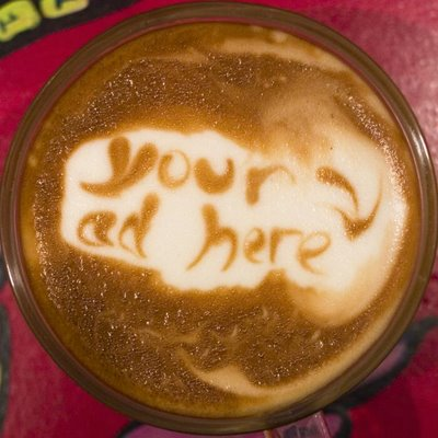 Your Ad Here Latte art