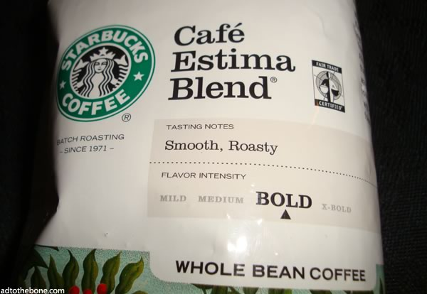 Smooth roasty Starbucks coffee