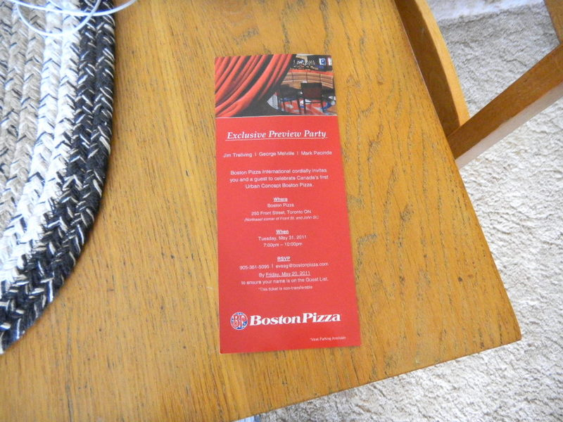 Boston Pizza invitation