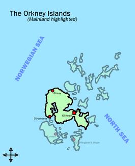 Orkney Islands map